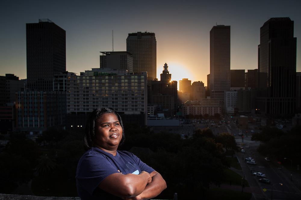 Danielle Duncan at sunrise in New Orleans.