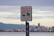Jericho Beach. Clean up after your dog!