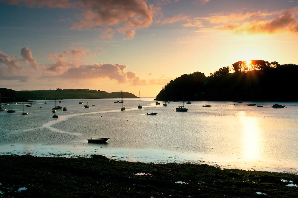 Helford River at dawn, Cornwall