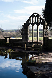 Canon Hall Barnsley<br /> 1 February 2015<br /> Image © Paul David Drabble<br /> www.pauldaviddrabble.co.uk Cannon Hall, Fairyland Gardens are a landscaped Fairytale folly for children. It was laid out in the late 19th Century by Sir Walter Spencer-Stanhope who used stone arches form the Churches at Cawthorne and Silkstone along with winding paths, ponds, Yew trees and a stone bridge crossing a stream to creating a magical fairy garden unlike the formal gardens usually found at UK stately homes.
