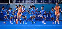 TOKIO - India komt op 1-1,  tijdens de wedstrijd dames , Nederland-India (5-1) tijdens de Olympische Spelen   .   COPYRIGHT KOEN SUYK