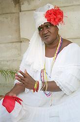 Santeria religion being practised in Havana; Cuba,