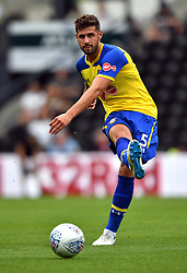 "Southampton's Jack Stephens during a pre season friendly match at Pride Park, Derby. PRESS ASSOCIATION Photo. Picture date: Saturday July 21, 2018. Photo credit should read: Anthony Devlin/PA Wire. EDITORIAL USE ONLY No use with unauthorised audio, video, data, fixture lists, club/league logos or ""live"" services. Online in-match use limited to 75 images, no video emulation. No use in betting, games or single club/league/player publications."