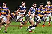 Auckland player Harry Plummer heads for the line against Bay of Plenty during the Mitre 10 Cup match played at Rotorua International Stadium in Rotorua on Friday 2nd October 2020<br /> Copyright photo: Alan Gibson / www.photosport.nz