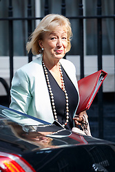 © Licensed to London News Pictures. 04/07/2017. London, UK. Leader of the House of Commons ANDREA LEADSOM attends a cabinet meeting in Downing Street, London on Tuesday, 4 July 2017.Photo credit: Tolga Akmen/LNP