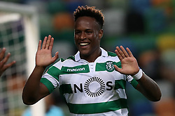 September 20, 2018 - Lisbon, Portugal - Sporting's forward Jovane Cabral from Cabo Verde celebrates after scoring during the UEFA Europa League Group E football match Sporting CP vs Qarabag at Alvalade stadium in Lisbon, on September 20, 2018. (Credit Image: © Pedro Fiuza/NurPhoto/ZUMA Press)