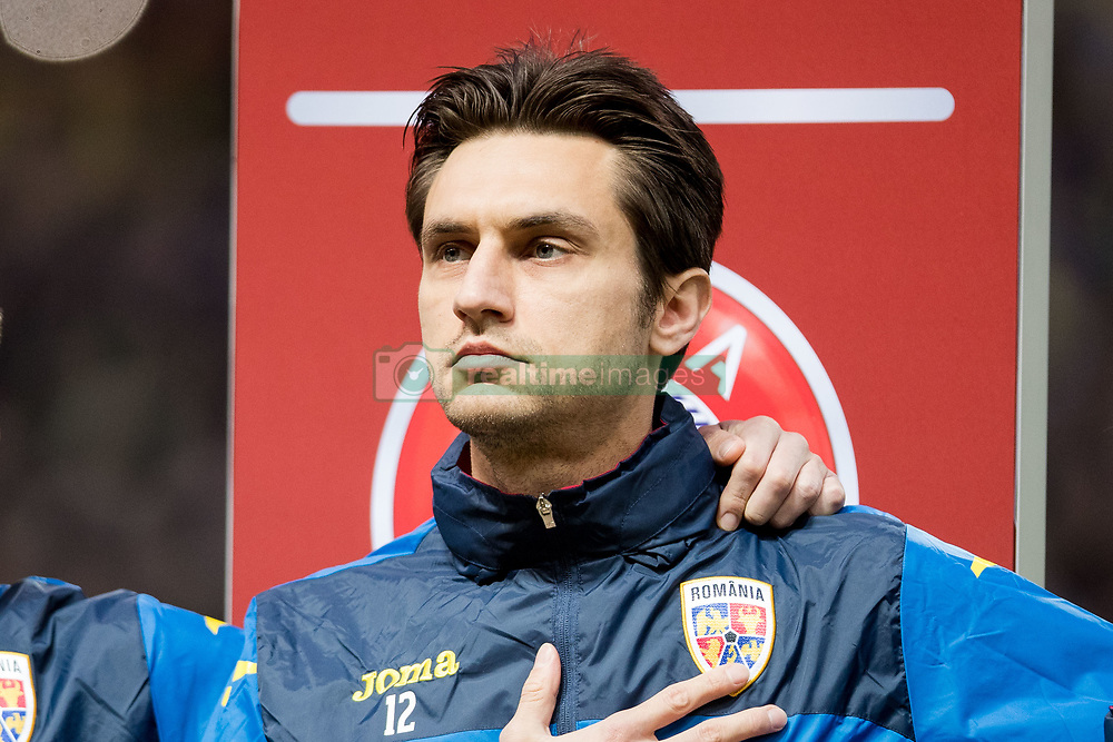 March 23, 2019 - Stockholm, SWEDEN - 190323  Goalkeeper Ciprian Tatarusanu of Romania ahed of the UEFA Euro Qualifier football match between Sweden and Romania on March 23, 2019 in Stockholm. (Credit Image: © Mathilda Ahlberg/Bildbyran via ZUMA Press)