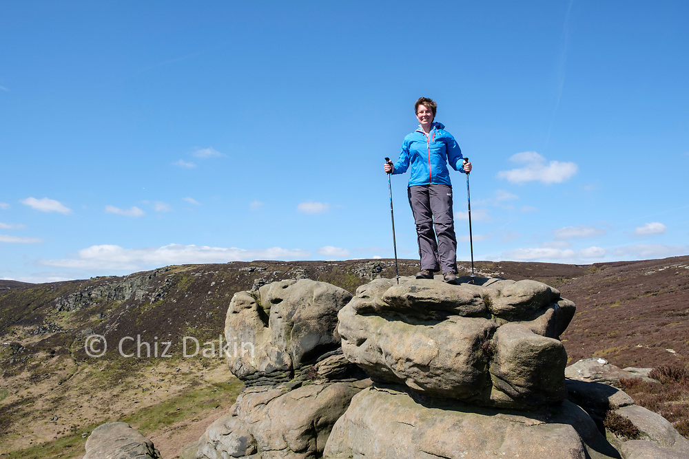 Atop one of the Ringing Roger outcrops