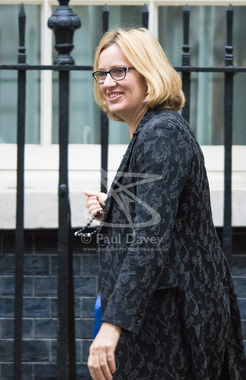 Downing Street, London, September 15th 2015.  Amber Rudd MP, Secretary of State for Energy and Climate Change arrives at 10 Downing Street to attend the weekly cabinet meeting