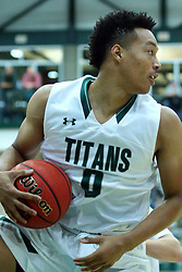 17 November 2017:  Miles Curry during an College men's division 3 CCIW basketball game between the Alma Scots and the Illinois Wesleyan Titans in Shirk Center, Bloomington IL