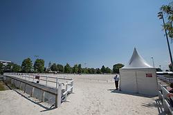 Warm up arena's<br /> WEG Test event dressage - Caen 2014<br /> © Hippo Foto - Leanjo de Koster