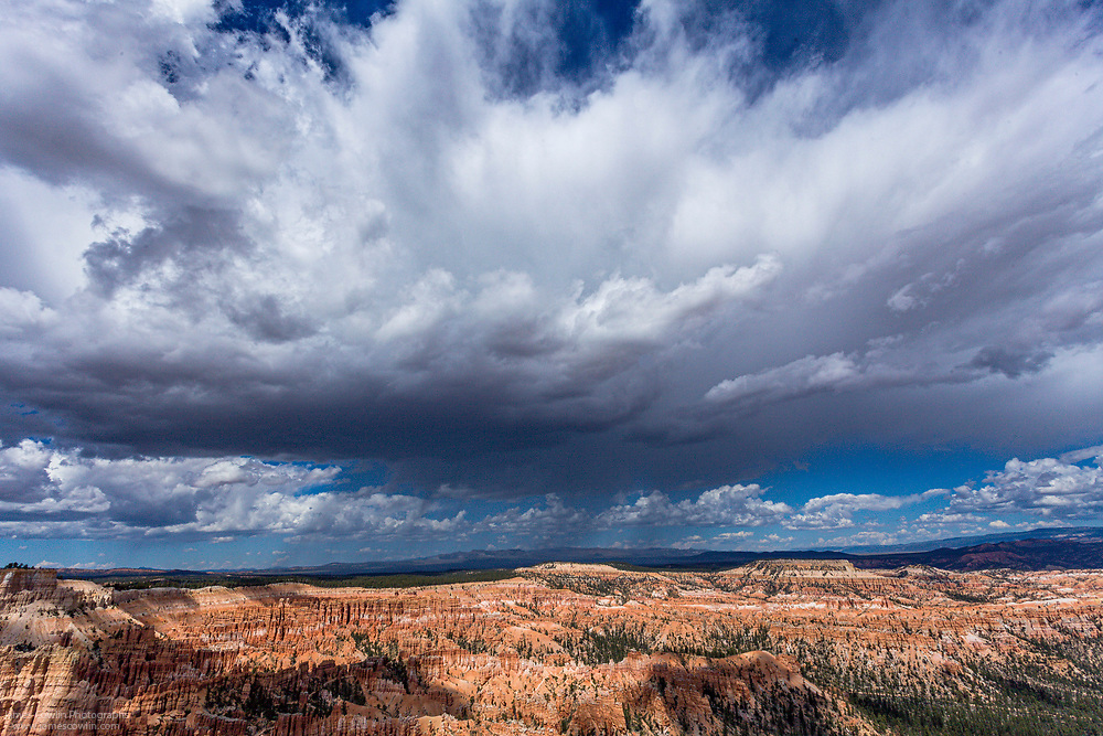 Summer rain storm over Bryce Canyon