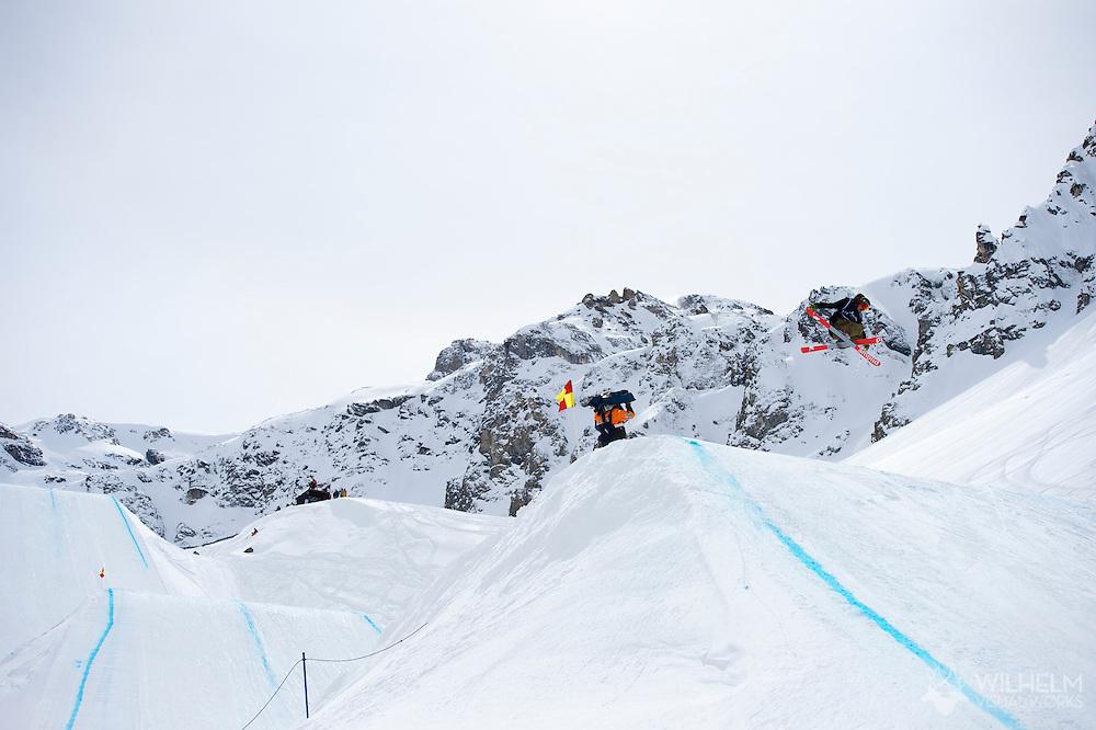 McRae Williams during Men's Ski Slopestyle Finals at the 2013 X Games Tignes in Tignes, France. ©Brett Wilhelm/ESPN