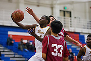 Mission Bears guard Tyrese Johnson (4) attacks the basket during the Fukushima Invitational at Independence High School in San Jose, Calif., on December 7, 2016. (Stan Olszewski/Special to S.F. Examiner)