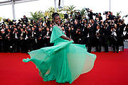 """Lupita Nyong'o arrive for the screening of the film """"Standing Tall"""" (Tete Haute) during the opening ceremony of the 68th Cannes Film Festival in Cannes,  France, on May 13, 2015."""
