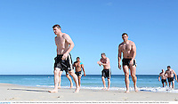 3 June 2013; Brian O'Driscoll, British & Irish Lions, during a recovery session ahead of their game against Western Force on Wednesday. British & Irish Lions Tour 2013, Recovery Session, City Beach, Perth, Australia. Picture credit: Stephen McCarthy / SPORTSFILE