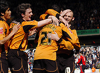 Photo: Kevin Poolman.<br />Wolverhampton Wanderers v Coventry City. Coca Cola Championship. 08/04/2006. Colin Cameron celebrates his goal for Wolves.