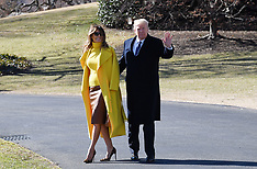 President Trump and First Lady Melania Trump depart the White House - 5 Feb 2018