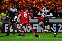 Toulon's Hugo Bonneval in action during todays match<br /> <br /> Photographer Craig Thomas/Replay Images<br /> <br /> European Rugby Champions Cup Round 5 - Scarlets v Toulon - Saturday 20th January 2018 - Parc Y Scarlets - Llanelli<br /> <br /> World Copyright © Replay Images . All rights reserved. info@replayimages.co.uk - http://replayimages.co.uk