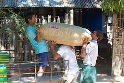 Loading Bag Onto Truck
