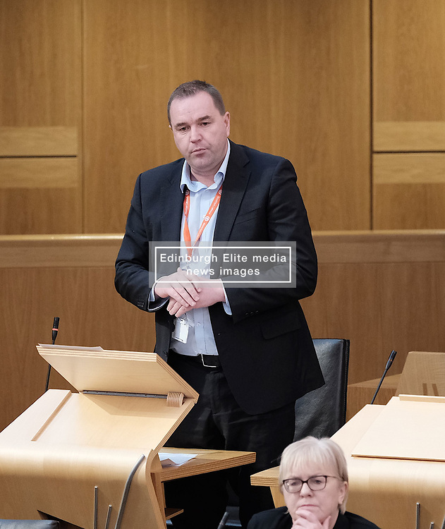 First Minister's Questions in the Scottish Parliament<br /> <br /> Thursday, 19th September 2019<br /> <br /> Pictured: Neil Findlay MSP<br /> <br /> Alex Todd | Edinburgh Elite media