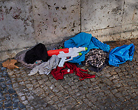 Abandoned Cloths and Super Soaker in Lisbon. Image taken with a Fuji X-T3 camera and 35 mm f/1.4 lens.