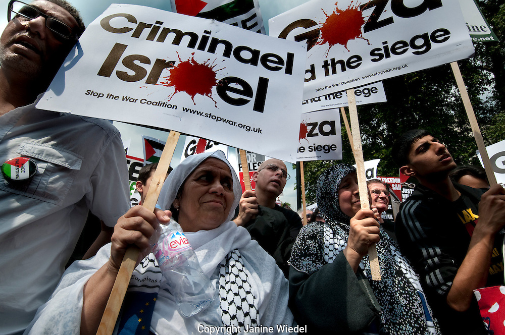 12,000 protesters march through Central London to the Israeli Embassy protesting murder of activists on board the relief aid floatilla off the coast of Gaza