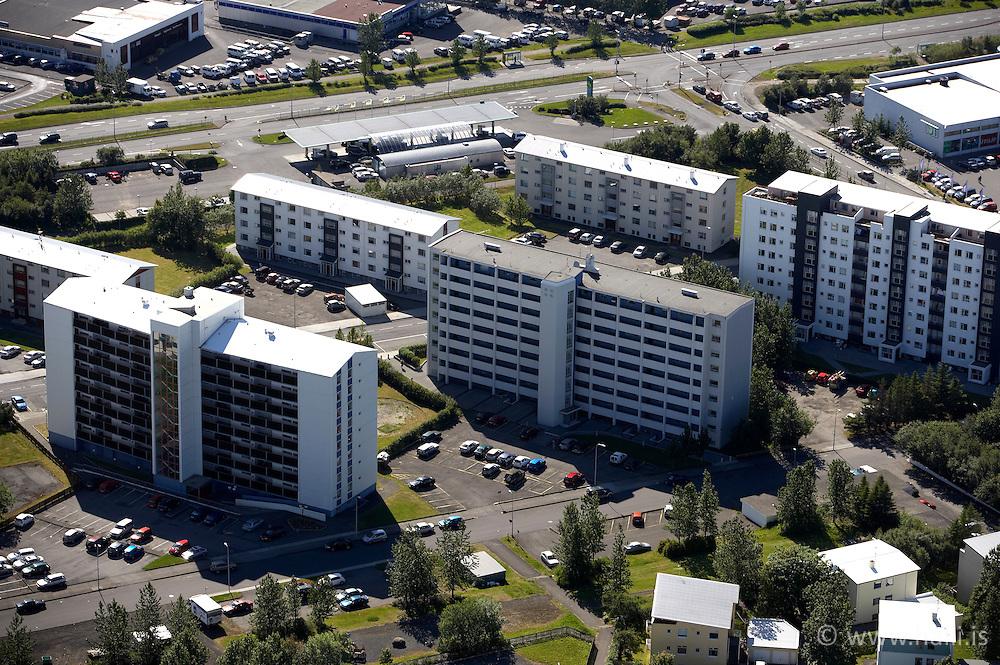 Aerial photograph of houses in Vogahverfi, Reykjavik, Iceland / Loftmynd af Vogahverfi í Reykjavík