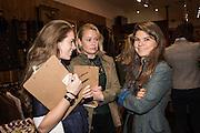 SOPHIE WILSON; SOPHIE FAIRCLOUGH; LUCIE BURTON, Tatler and Dubarry host an evening with Clare Balding, Dubarry of Ireland, 34 Duke of York's Sq. London. 13 October 2016.