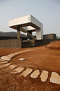 Steven Holl's Sifen Art Museum is seen still under construction at the CIPEA park in Nanjing, China on 04 March, 2011.