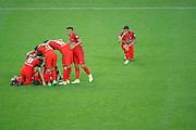 Thiago Motta Santon Olivares (psg), Marco Verratti (psg), Blaise Mathuidi (psg), Angel Di Maria (psg), Adrien Rabiot (psg), Marcos Aoas Correa dit Marquinhos (PSG), Javier Matias Pastore (psg) and Thiago Silva (PSG) celebrated the victory during the 100th French Cup, Final football match between SCO Angers and Paris Saint-Germain on May 27, 2017 at Stade de France in Saint-Denis, France - Photo Stephane Allaman / ProSportsImages / DPPI