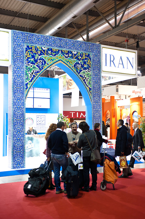 Milan, Italy - February  17: Iran stand at BIT International Tourism Exchange on february 17, 2012 in Milan, Italy.