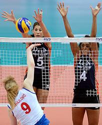 01-10-2014 ITA: World Championship Volleyball Servie - Nederland, Verona<br /> Nederland verliest met 3-0 van Servie en is kansloos voor plaatsing final 6 / Robin de Kruijf, Celeste Plak