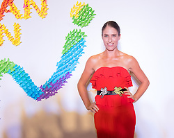 September 22, 2018 - Johanna Konta of Great Britain on the red carpet at the 2018 Dongfeng Motor Wuhan Open WTA Premier 5 tennis tournament players party (Credit Image: © AFP7 via ZUMA Wire)