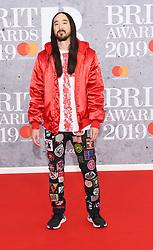 February 21, 2019 - London, London, United Kingdom - Image licensed to i-Images Picture Agency. 20/02/2019. London, United Kingdom. Steve Aoki at the Brit Awards in London. (Credit Image: © i-Images via ZUMA Press)