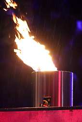 18.03.2017, Planai-Stadion, Schladming, AUT, Special Olympics 2017, Wintergames, Eröffnungsfeier, im Bild das Olympische Feuer // the Olympic flame during the opening ceremony in the Planai Stadium at the Special Olympics World Winter Games Austria 2017 in Schladming, Austria on 2017/03/17. EXPA Pictures © 2017, PhotoCredit: EXPA / Martin Huber