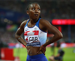 July 14, 2018 - London, United Kingdom - Bianca Williams  of Great Britain and Northern Ireland  after the 100m Women.during Athletics World Cup London 2018 at London Stadium, London, on 14 July 2018  (Credit Image: © Action Foto Sport/NurPhoto via ZUMA Press)