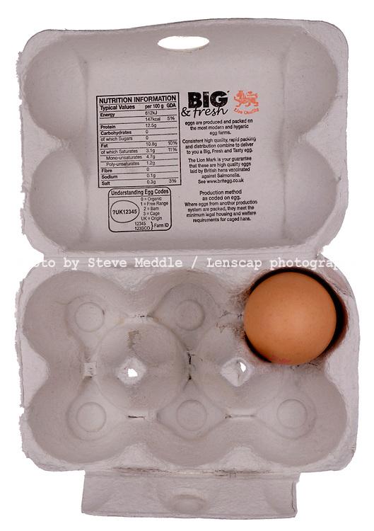 Single Egg in Egg Box