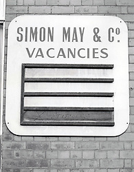 Vacancies sign, Nottingham UK 1982