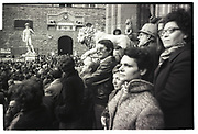 Demonstration in St. Mark's Sq. Florence. Italy. 1976 approx.