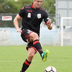 BRISBANE, AUSTRALIA - DECEMBER 10: Michael Marrone of Adelaide United controls the ball during the round 5 Foxtel National Youth League match between the Brisbane Roar and Adelaide United at AJ Kelly Field on December 10, 2016 in Brisbane, Australia. (Photo by Patrick Kearney/Brisbane Roar)