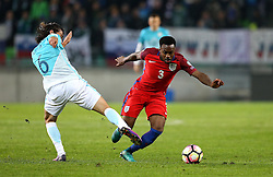Danny Rose of England goes past Rene Krhin of Slovenia - Mandatory by-line: Robbie Stephenson/JMP - 11/10/2016 - FOOTBALL - RSC Stozice - Ljubljana, England - Slovenia v England - World Cup European Qualifier