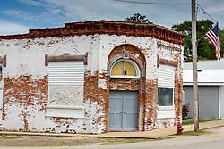 Old business buildings in Waynesville Illinois