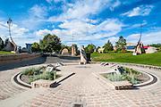 Forks astrological monument, Winnipeg, Manitoba, Canada