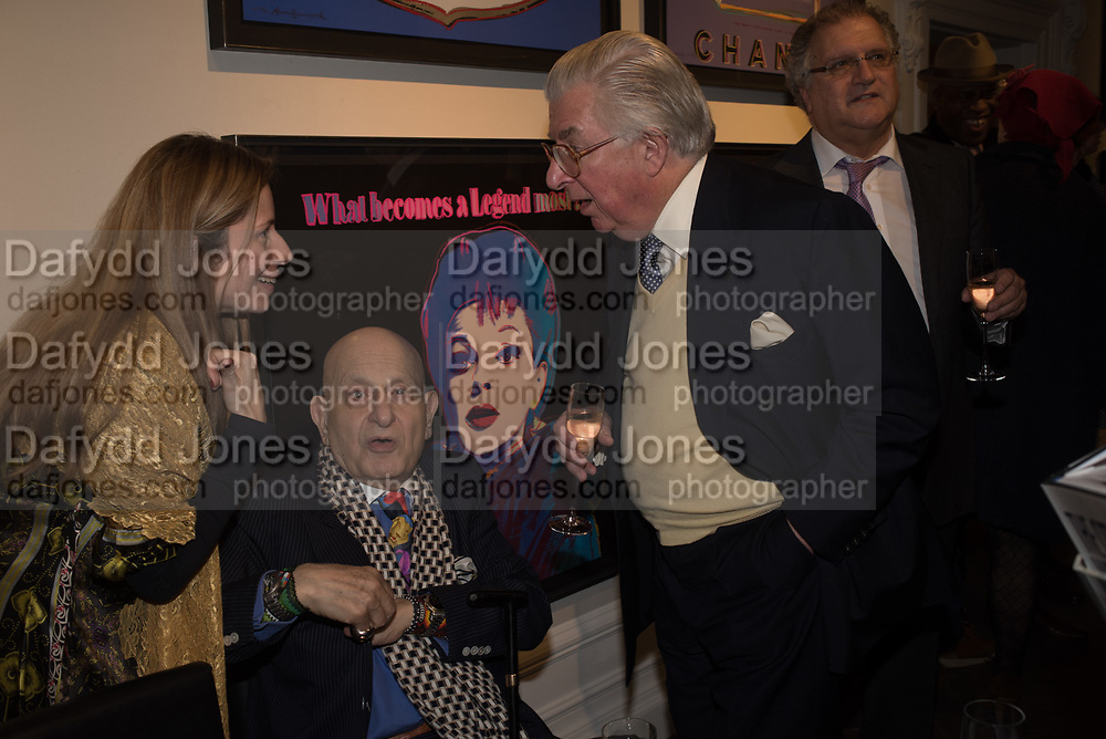 MICHELLE CAMARGO; NAIM ATTALAH; LORD MAGAN OF CASTLETOWN; SIMON JENKINS The launch of The City of Westminster: A Celebration of People,  published by Quartet in collaboration with the Sir Simon Milton Foundation. Hosted by Robert Davis MBE and Naim Attallah CBE, Halcyon Gallery. London. 20 March 2017.
