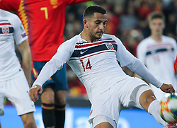 March 23, 2019 - Valencia, Valencia, Spain - Elabdellaoui of Norway in action during European Qualifiers championship, , football match between Spain and Norway, March 23th, in Mestalla Stadium in Valencia, Spain. (Credit Image: © AFP7 via ZUMA Wire)