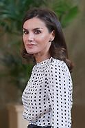 061419 Queen Letizia attends audiences at Zarzuela Palace