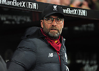 Football - 2019 / 2020 Premier League - Crystal Palace vs. Liverpool<br /> <br /> Liverpool Manager, Jurgen Klopp in the dug out, at Selhurst Park.<br /> <br /> COLORSPORT/ANDREW COWIE