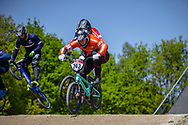 #243 (KIMMANN Justin) NED during practice of Round 3 at the 2018 UCI BMX Superscross World Cup in Papendal, The Netherlands