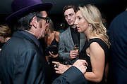 ELVIS COSTELLO; AARON JOHNSON; SAM TAYLOR WOOD, The 2009 GQ Men Of The Year Awards at The Royal Opera House. Covent Garden.  8 September 2009.